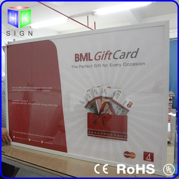Rectangle Outdoor Snap Frame Led Light Box Signs 27X40 Poster