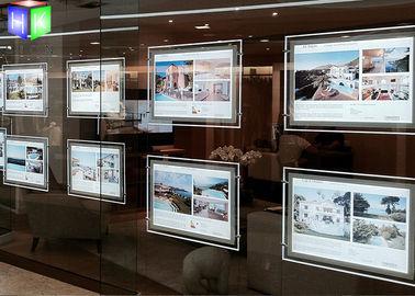 China Ultra Slim LED Light Box Acrylic LED Window Displays For Estate Agents supplier