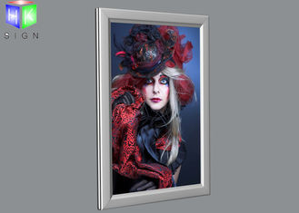 China Ultra Thin 20X30 Poster Frame Light Box Right Angle , Wall Snap Clip Frames supplier