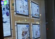 Indoor Crystal LED Estate Agent Window Displays Slim Lightbox Energy Saving