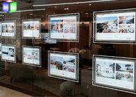 Ultra Slim LED Light Box Acrylic LED Window Displays For Estate Agents
