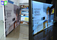 China Outdoor Aluminum Frameless Fabric Light Box Advertising 28 mm Thickness factory
