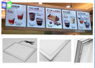 China Extrusion Metal Snap Frame LED Light Box Edge Lit Acrylic Sheet For Menu factory