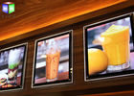 China Fast Food A2 Slim LED Illuminated Menu Boards Crystal Lightbox Wall Mounted factory