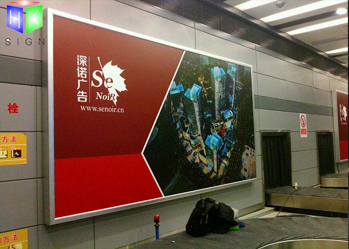 aluminum advertising lightbox frameless picture frames for railway station