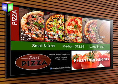 Backlit Advertising Aluminum LED Light Box Fast Food Menu Board For Restaurant