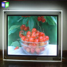 Acrylic indoor Advertising Crystal Led Light Box For Picture Frame Display