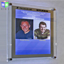Decorative Poster Frame Acrylic Led Light Box For A2 Size Picture , Wall Mounted