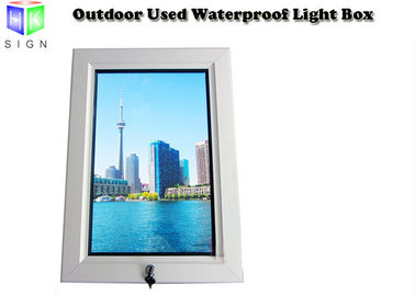 24 X 36 Inch Lockable Waterproof Led Outdoor Light Box , Picture Frame Advertising Light Box Display