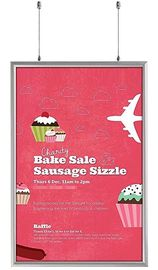 Double Sided Snap Frame Aluminum Finish Poster Frame Displays for advertising A3 size sign